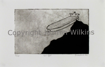 Sand Mining - Zinc Etching and Aquatint on Paper - 2011 Edition of 10