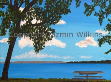 Perfect Picnic Spot - Acrylic on Canvas - 2014 40 X 30cm AUD$50 + Postage & Handling