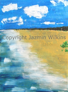The Beach Walk - Acrylic on Canvas - 2015 46cm X 61cm Painted on 10oz, Double Primed Canvas, Stretched onto a 4cm, Solid Pine Frame SOLD