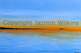 Sunset over the Bay - Acrylic on Canvas - 2015 76cm X 51cm Painted on 10oz, Double-Primed Cotton Canvas, Stretched onto a 4cm Pine Frame AUD$199 + Postage & Handling