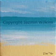Beach Miniature 5 - Acrylic on Canvas - 2016 10cm X 10cm Painted on a lightweight, 3.5cm frame AUD$10 plus postage