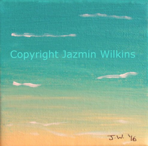 Beach Miniature 1 - Acrylic on Canvas - 2016 10cm X 10cm Painted on a lightweight, 3.5cm frame SOLD