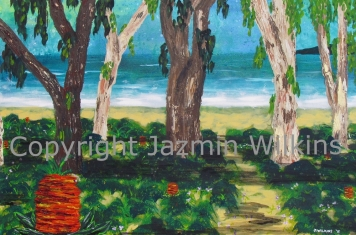 The Beach Path - Acrylic on Canvas - 2016 92cm X 61cm Painted on 10oz, Double Primed Canvas, Stretched onto a 4cm, Solid Pine Frame AUD$395 Plus Postage & Handling