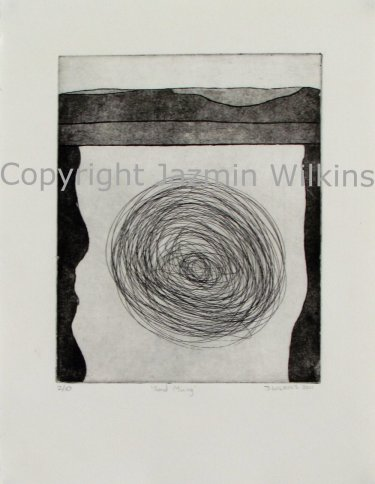 Oil Spill - Zinc Etching on Paper - 2011 Edition of 10